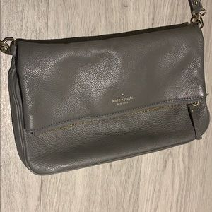 Kate Spade grey cross-body purse